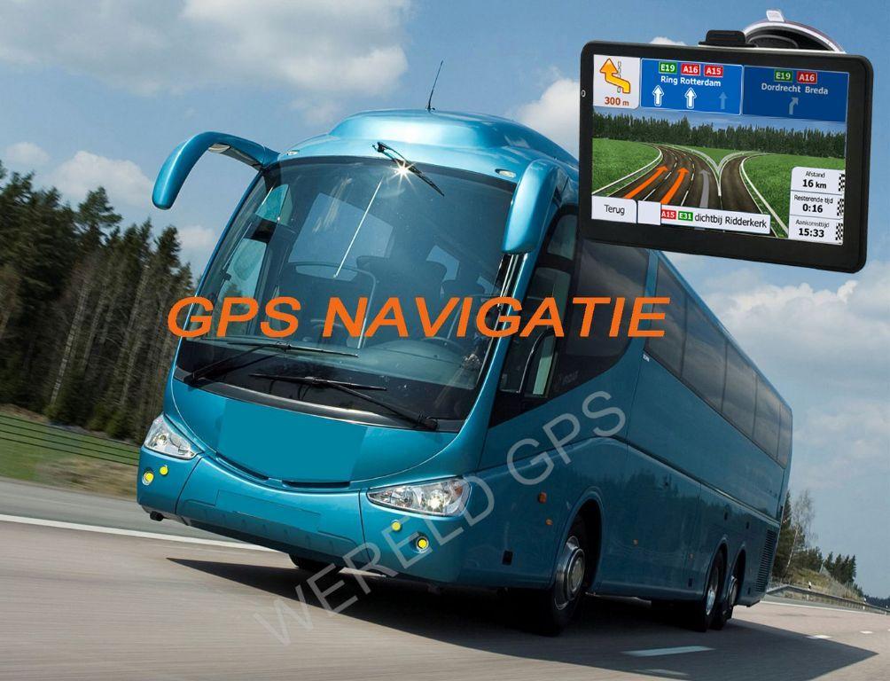 """7"""" inch breedbeeld GPS Navigatie voor BUS"""